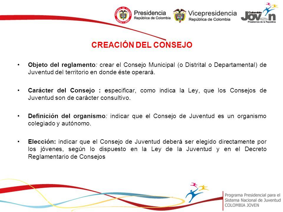 CREACIÓN DEL CONSEJO