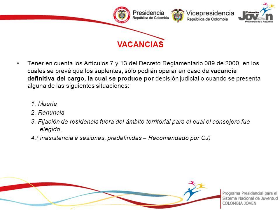 VACANCIAS