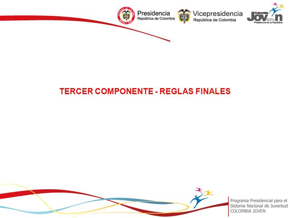 TERCER COMPONENTE - REGLAS FINALES
