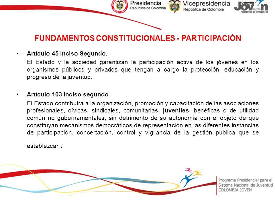 FUNDAMENTOS CONSTITUCIONALES - PARTICIPACIÓN