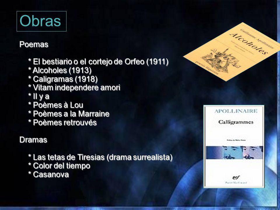 Obras Poemas * El bestiario o el cortejo de Orfeo (1911)