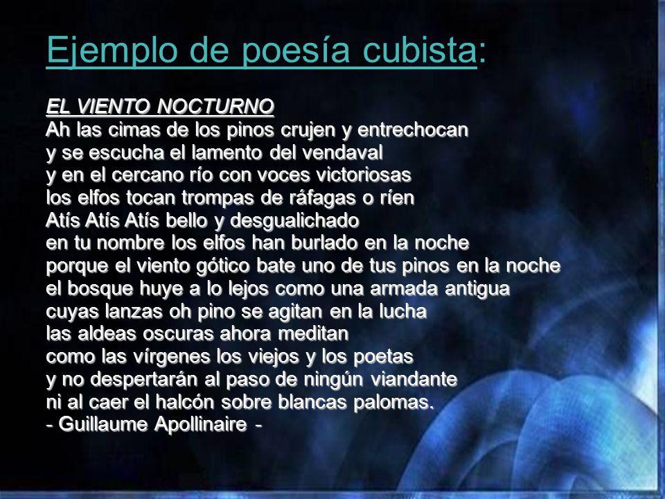 Ejemplo de poesía cubista: