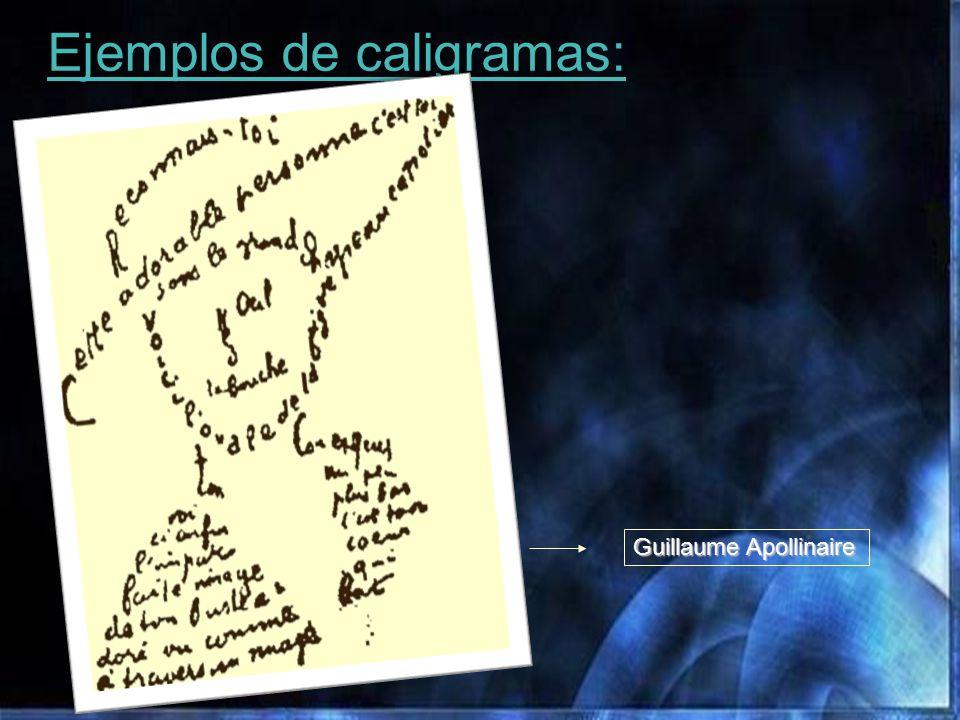 Ejemplos de caligramas: