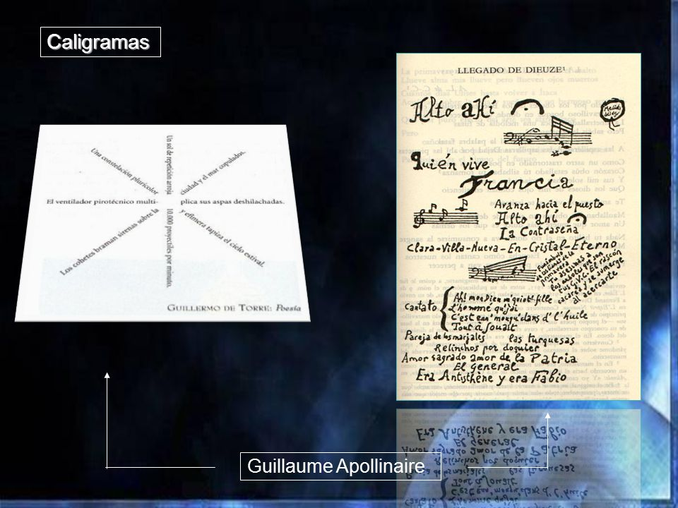 Caligramas Guillaume Apollinaire