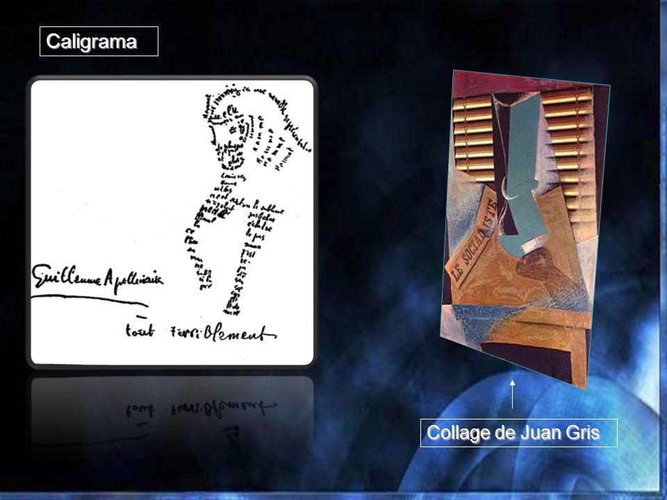 Caligrama Collage de Juan Gris