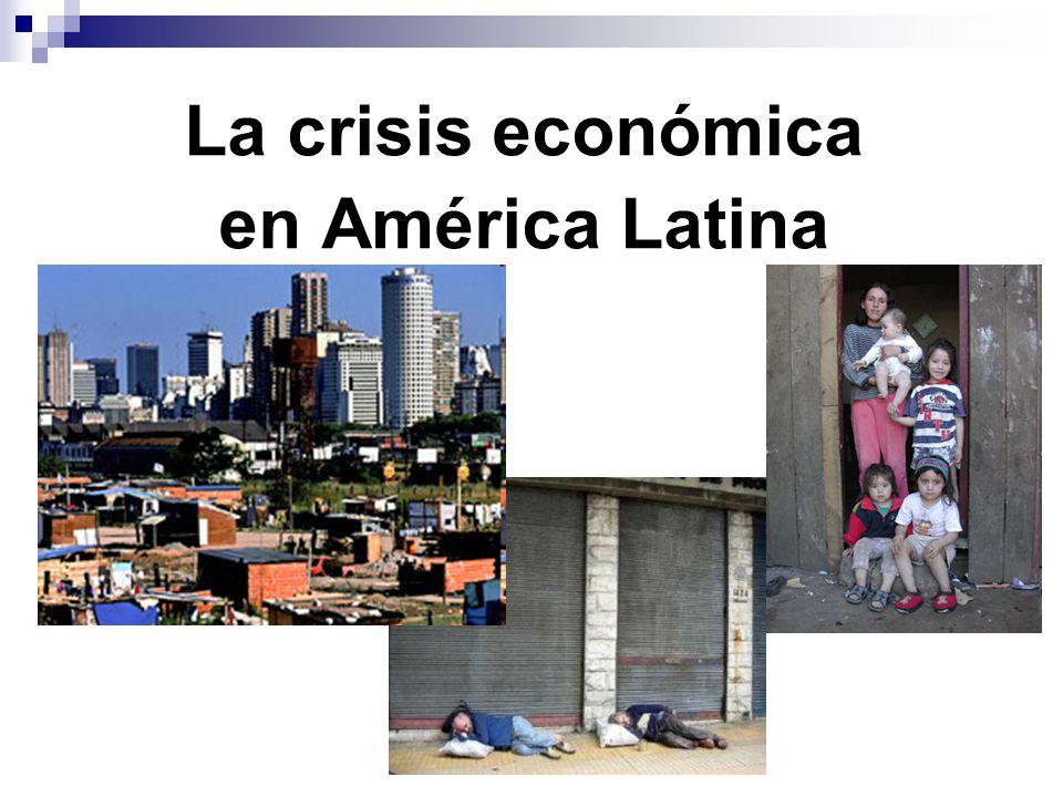 La crisis económica en América Latina