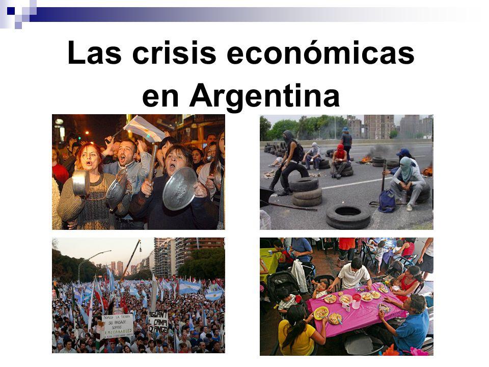 Las crisis económicas en Argentina