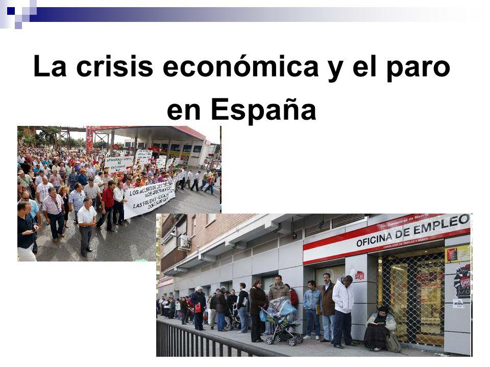 La crisis económica y el paro