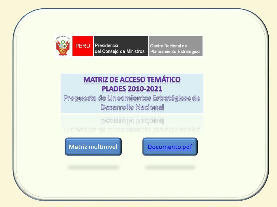 Matriz de Acceso Temático PLADES 2010-2021