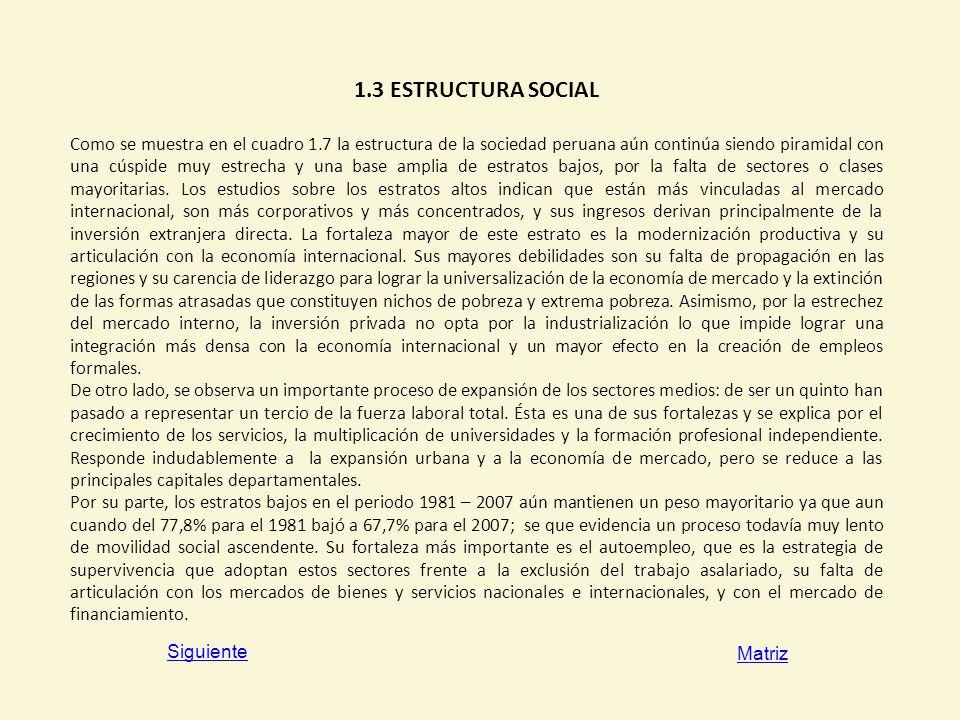 1.3 ESTRUCTURA SOCIAL