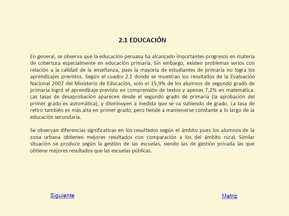2.1 EDUCACIÓN