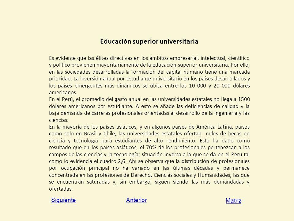 Educación superior universitaria