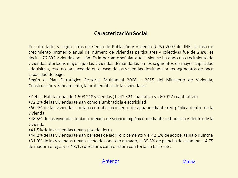Caracterización Social