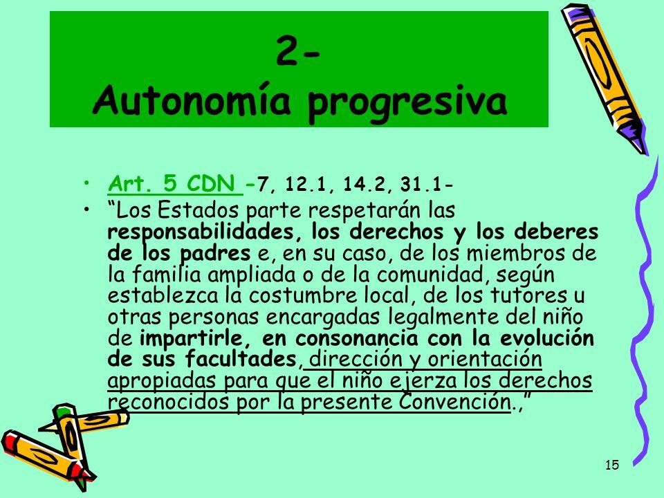 2- Autonomía progresiva