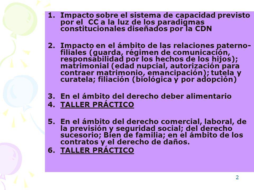 Impacto sobre el sistema de capacidad previsto por el CC a la luz de los paradigmas constitucionales diseñados por la CDN