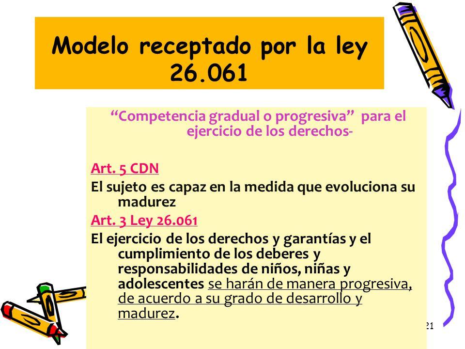 Modelo receptado por la ley 26.061