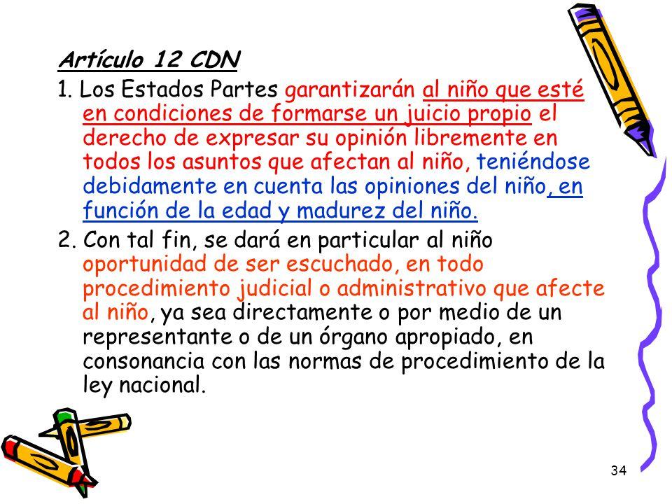 Artículo 12 CDN