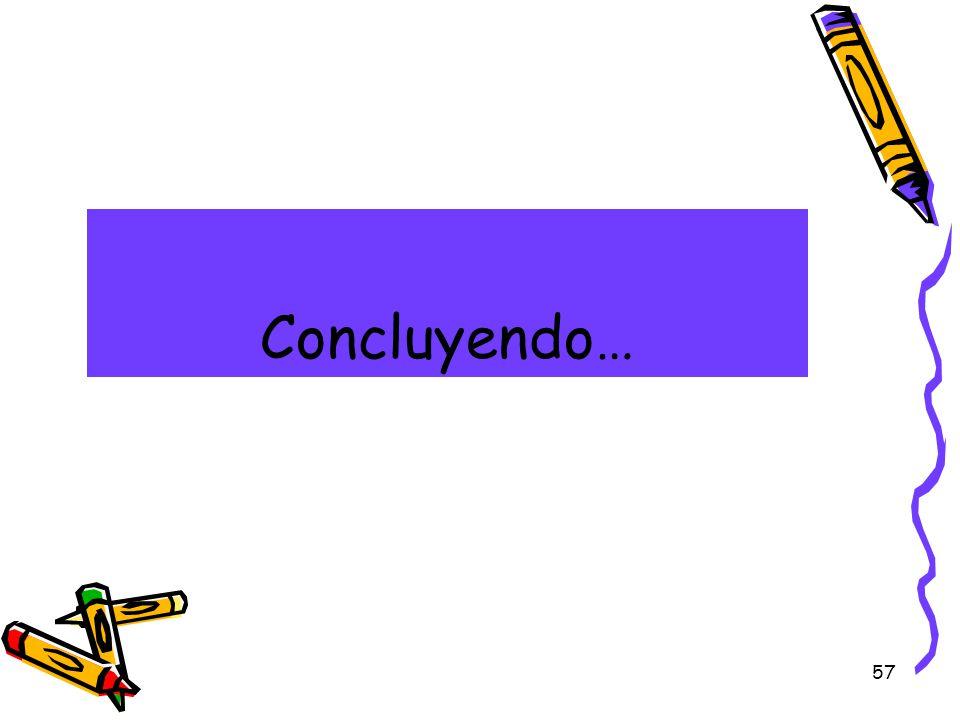 Concluyendo…