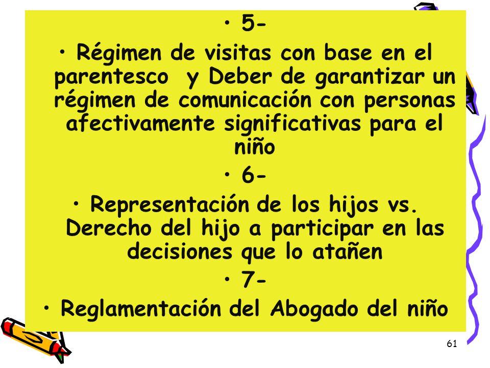 Reglamentación del Abogado del niño