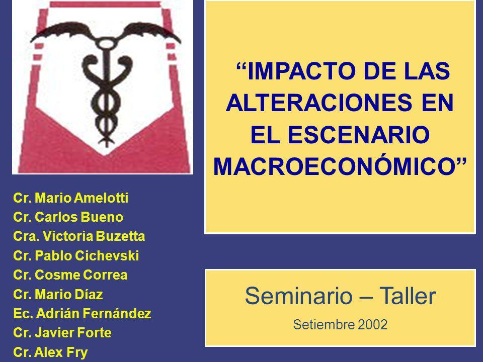 IMPACTO DE LAS ALTERACIONES EN EL ESCENARIO MACROECONÓMICO