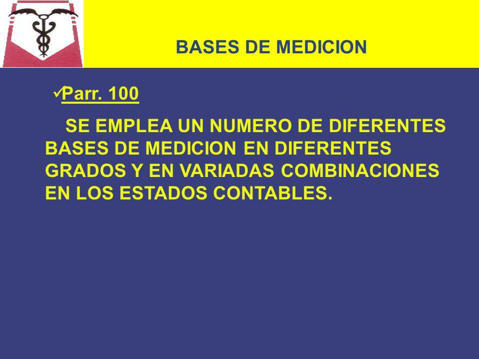 BASES DE MEDICION Parr. 100.