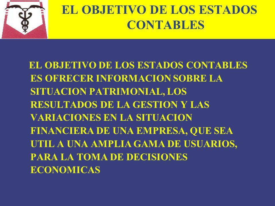 EL OBJETIVO DE LOS ESTADOS CONTABLES