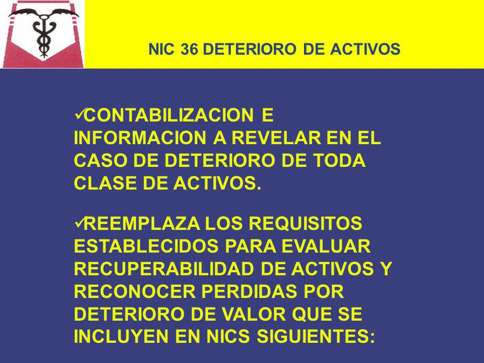 NIC 36 DETERIORO DE ACTIVOS