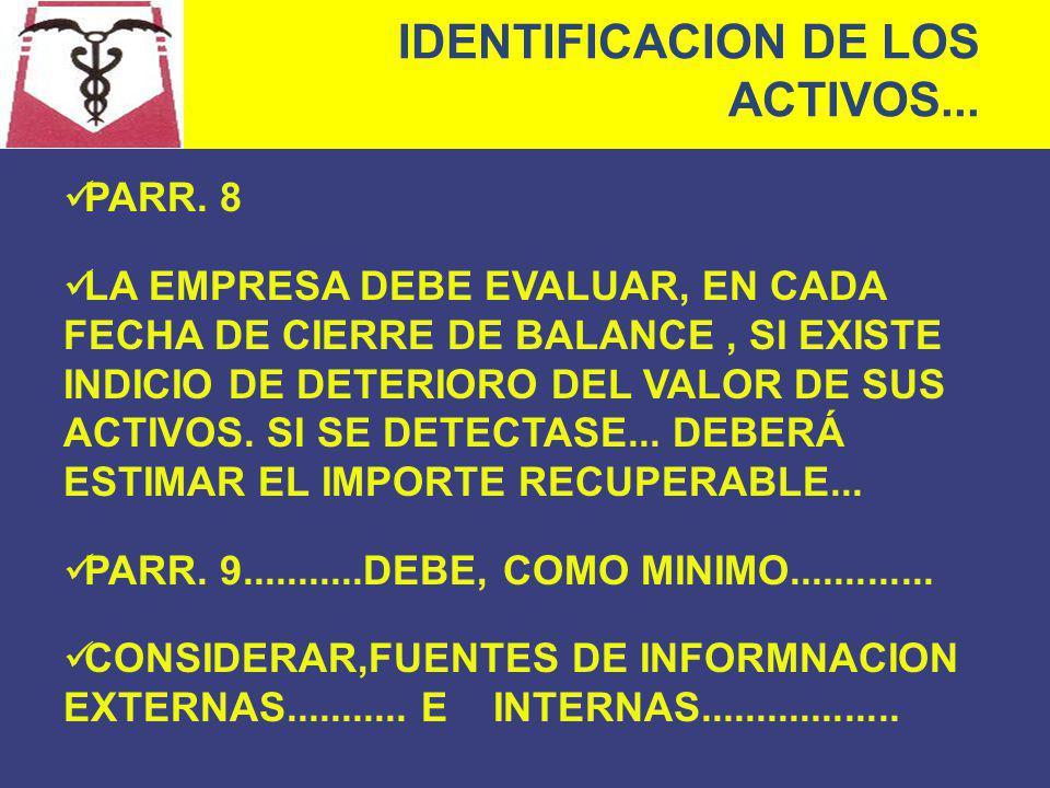 IDENTIFICACION DE LOS ACTIVOS...