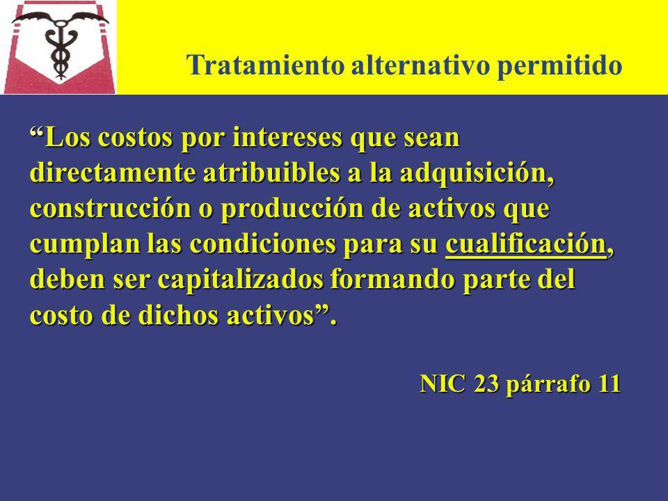 Tratamiento alternativo permitido