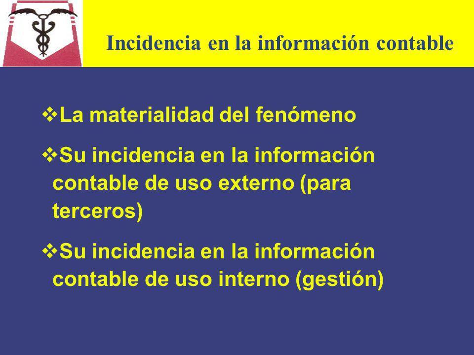 Incidencia en la información contable