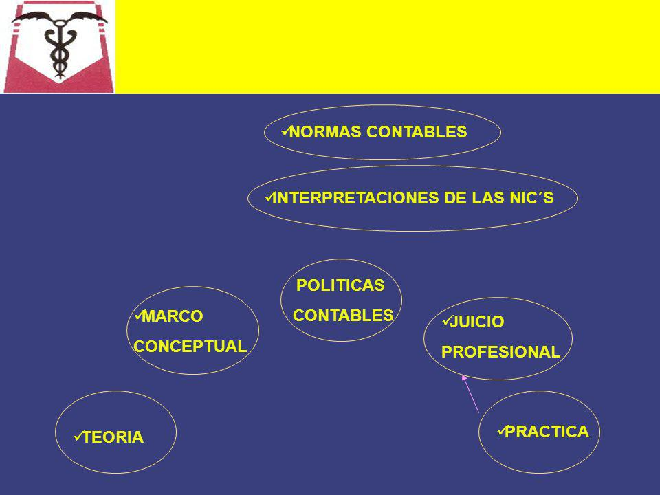 NORMAS CONTABLES INTERPRETACIONES DE LAS NIC´S. POLITICAS. CONTABLES. MARCO. CONCEPTUAL. JUICIO.
