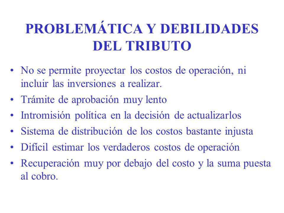 PROBLEMÁTICA Y DEBILIDADES DEL TRIBUTO