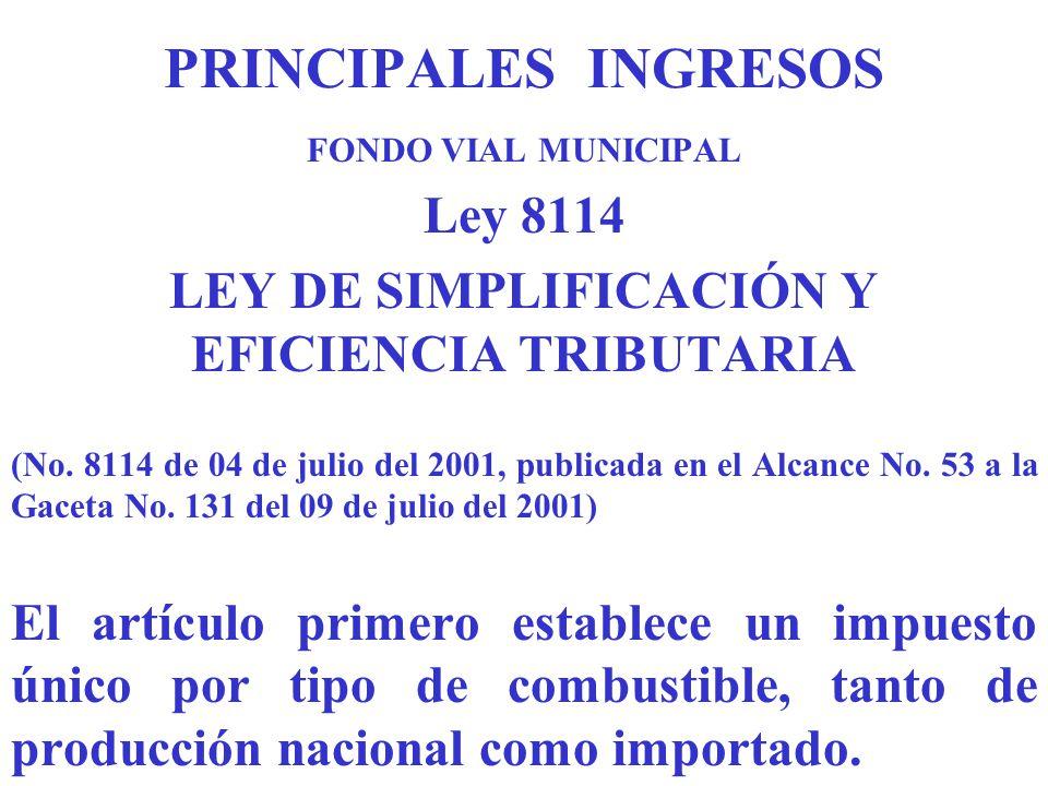 LEY DE SIMPLIFICACIÓN Y EFICIENCIA TRIBUTARIA