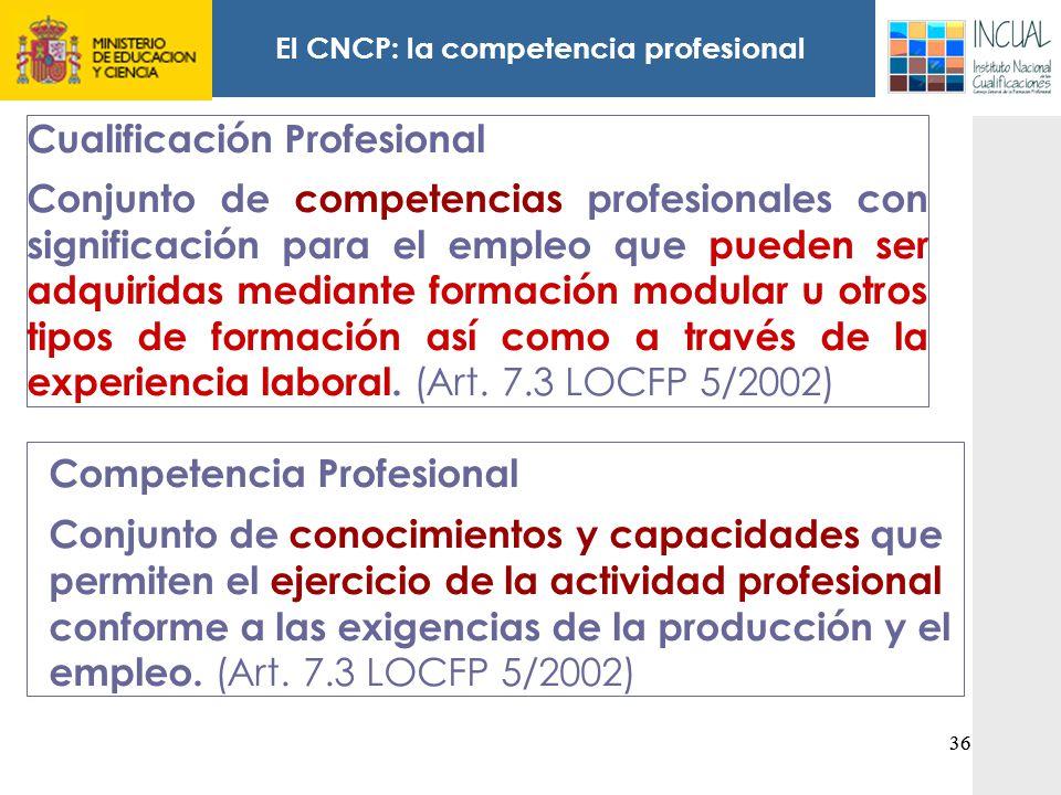 El CNCP: la competencia profesional