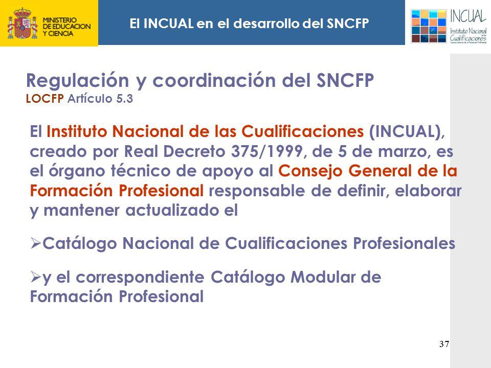 El INCUAL en el desarrollo del SNCFP