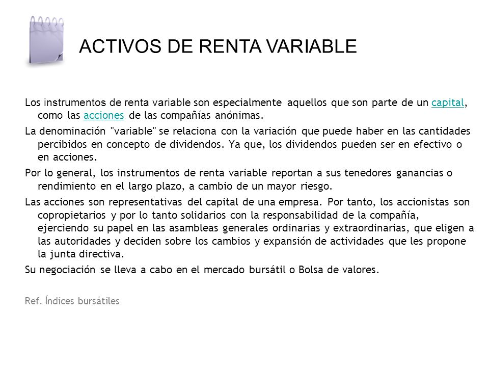 ACTIVOS DE RENTA VARIABLE