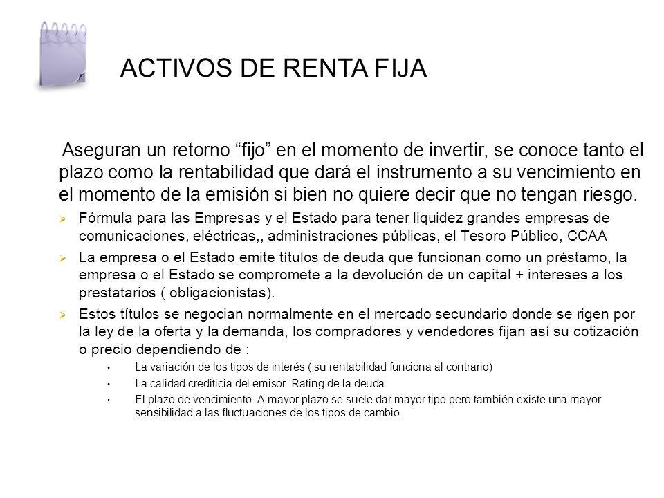 ACTIVOS DE RENTA FIJA