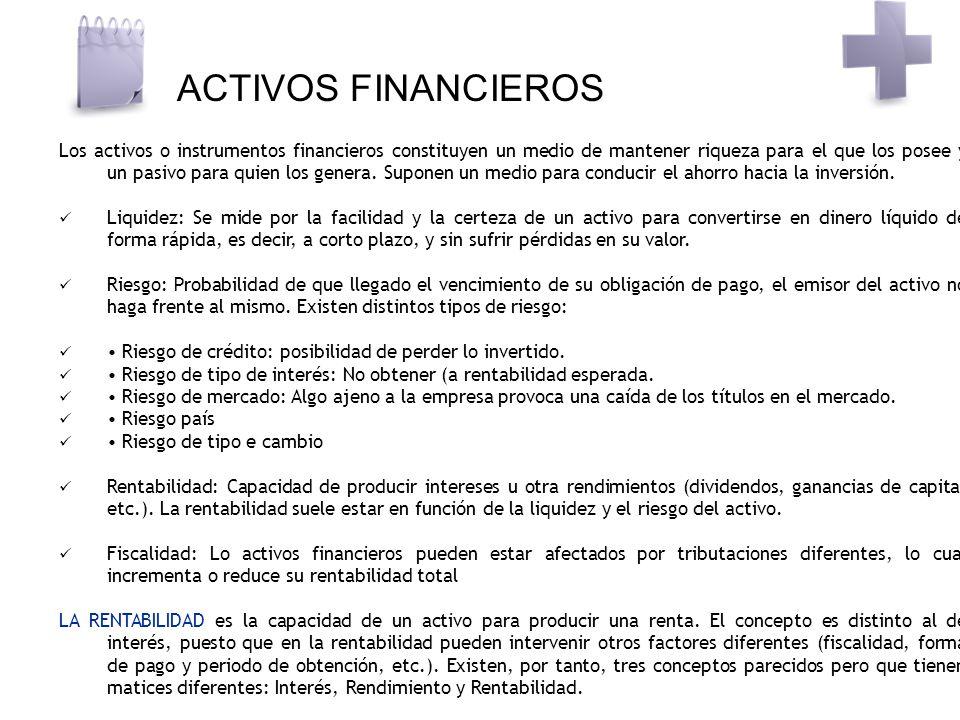 ACTIVOS FINANCIEROS