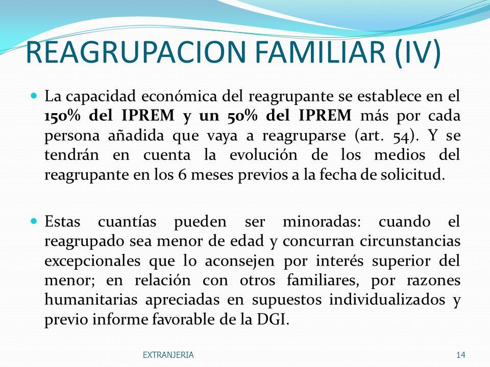 REAGRUPACION FAMILIAR (IV)