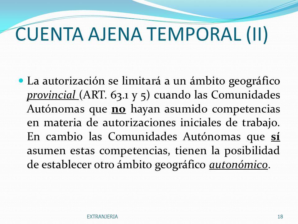 CUENTA AJENA TEMPORAL (II)