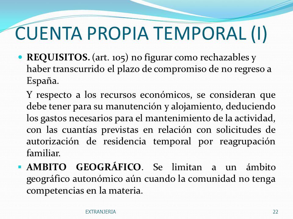 CUENTA PROPIA TEMPORAL (I)