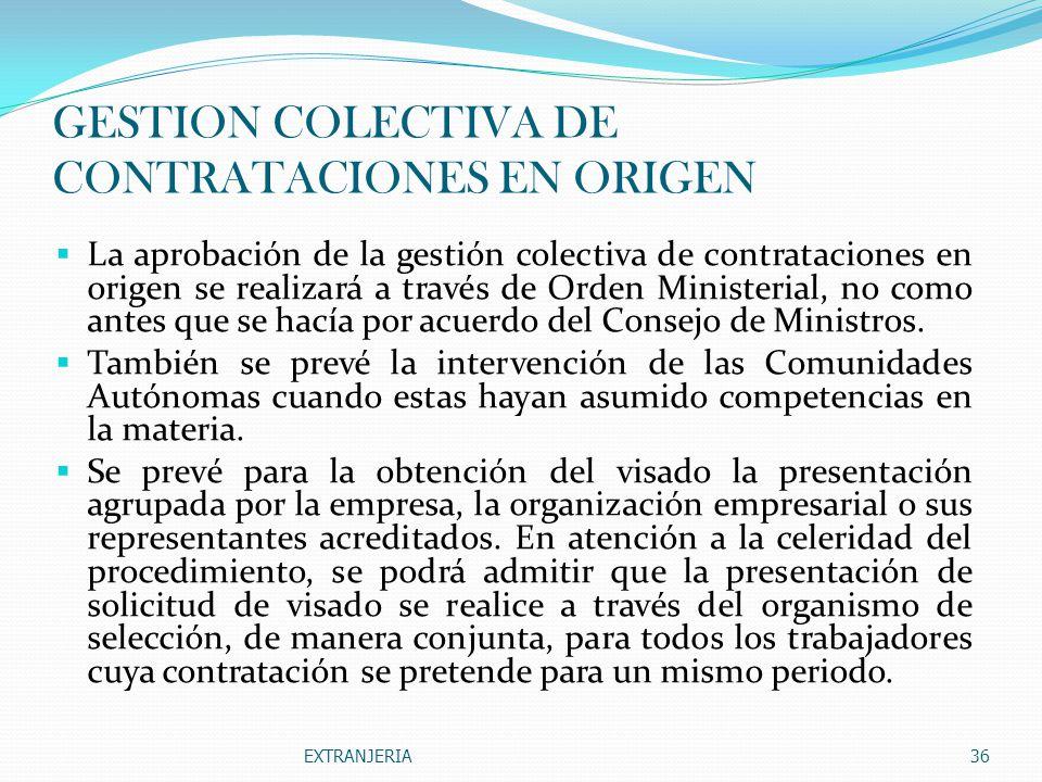 GESTION COLECTIVA DE CONTRATACIONES EN ORIGEN