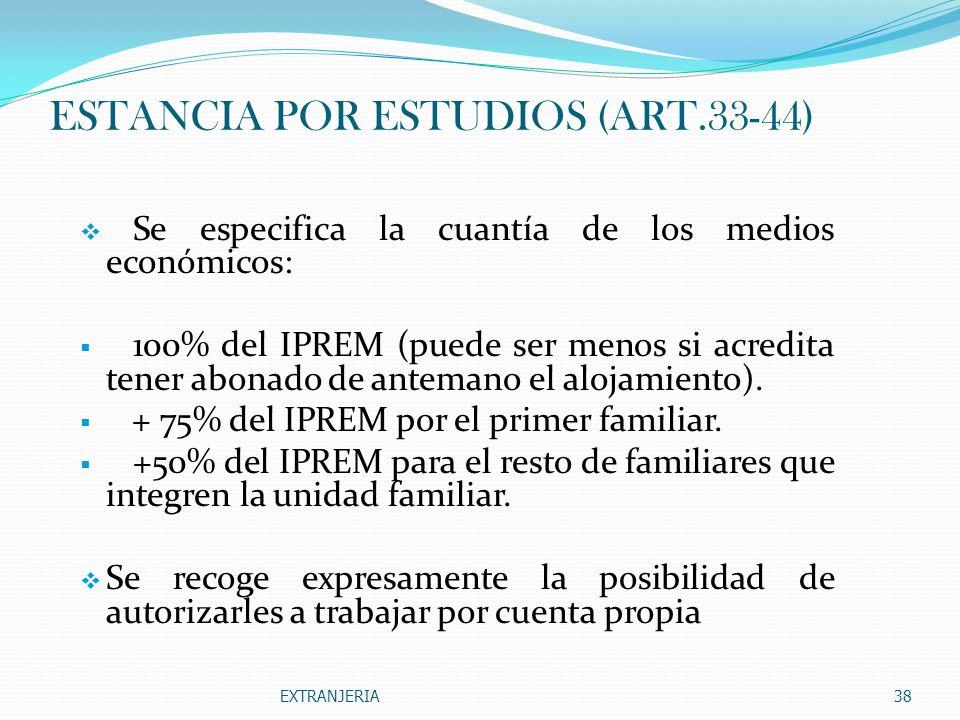 ESTANCIA POR ESTUDIOS (ART.33-44)