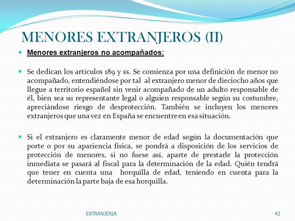 MENORES EXTRANJEROS (II)