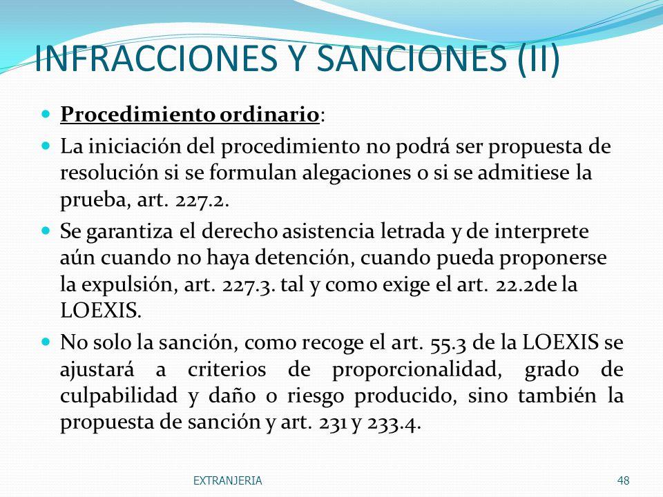 INFRACCIONES Y SANCIONES (II)