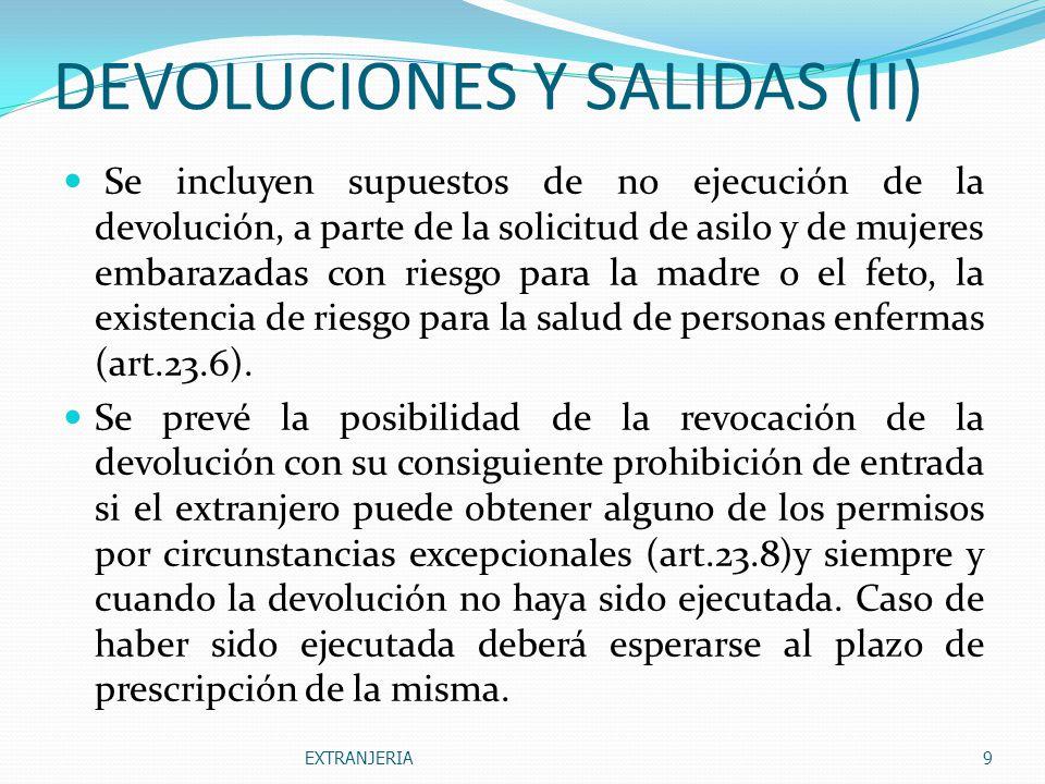 DEVOLUCIONES Y SALIDAS (II)