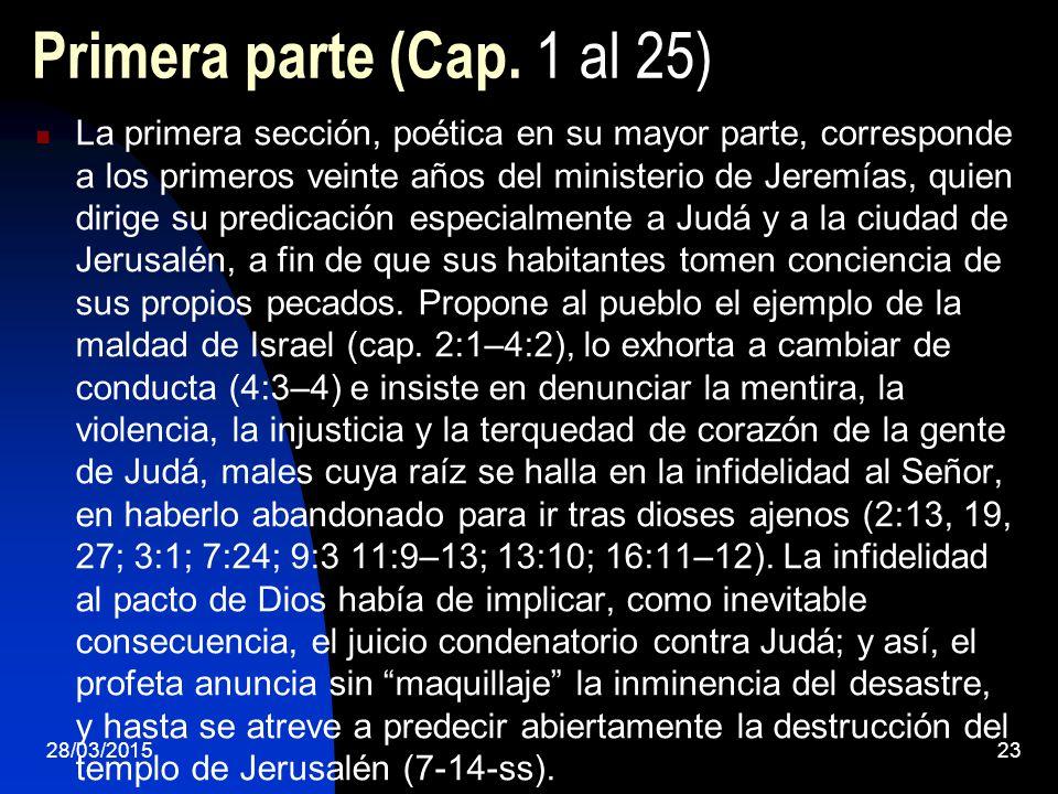 Primera parte (Cap. 1 al 25)