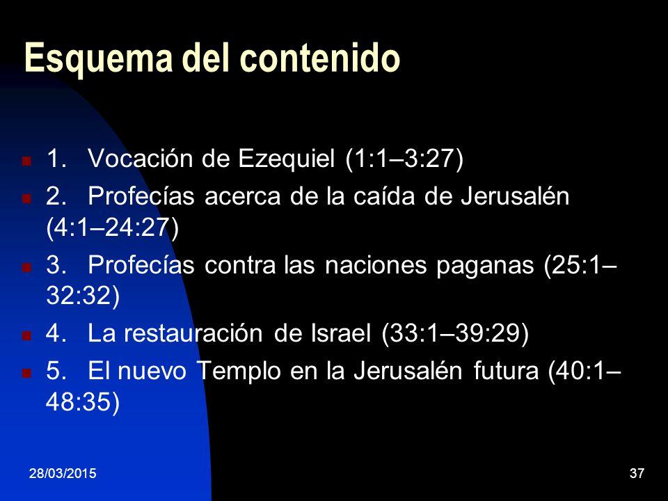 Esquema del contenido 1. Vocación de Ezequiel (1:1–3:27)