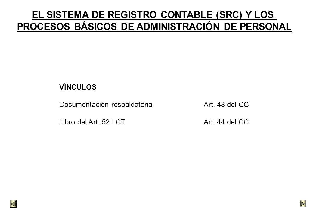 EL SISTEMA DE REGISTRO CONTABLE (SRC) Y LOS