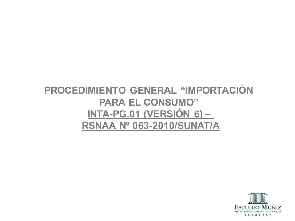 PROCEDIMIENTO GENERAL IMPORTACIÓN